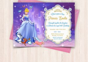 Free Birthday Cards For Printing At Home Cinderella Invitations Thank You To