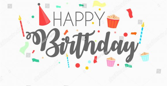 Free Birthday Cards for Texting Happy Birthday Typographic Vector Design Greeting Stock