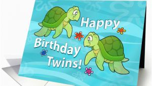 Free Birthday Cards for Twins Happy Birthday Twins Two Sea Turtles Card 467701
