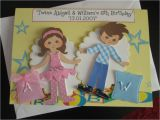 Free Birthday Cards for Twins Twin A5 Girl Boy Birthday Card Personalise Handmade Any