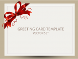 Free Birthday Cards Templates Freebie Greeting Card Templates with Red Bow Ai Eps