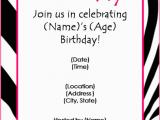 Free Birthday Party Invitation Templates Free Birthday Party Invitation Templates for Word