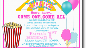 Free Carnival Birthday Invitations 5 Best Images Of Free Printable Carnival Templates