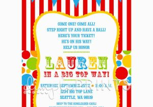 Free Carnival Birthday Invitations Circus Party Templates