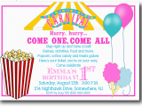 Free Circus Birthday Invitations Printables 5 Best Images Of Free Printable Carnival Templates