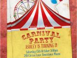 Free Circus Birthday Invitations Printables 8 Best Images Of Free Carnival Printable Birthday