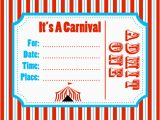 Free Circus Birthday Invitations Printables Carnival Invitation Template Best Template Collection