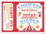 Free Circus Birthday Invitations Printables Circus Birthday Invitation Printable Custom Invitation with