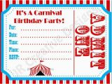 Free Circus Birthday Invitations Printables Free Carnival Birthday Invitations Template Google