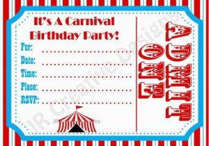 image regarding Free Carnival Printable titled Cost-free Circus Birthday Invites Printables 6 Most straightforward Visuals Of