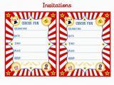 Free Circus Birthday Invitations Printables Invitaciones De Circo Vintage Para Imprimir Gratis
