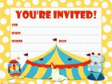 Free Circus Birthday Invitations Printables Party Invitations Party Favors Ideas