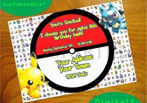 Free Digital Birthday Invitation Cards Pokemon Invitations Egreeting Ecards