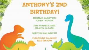 Free Dinosaur Birthday Party Invitation Template 17 Dinosaur Birthday Invitations How to Sample Templates