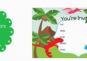 Free Dinosaur Birthday Party Invitation Template Printable Invitations Treats Com