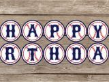 Free Download Happy Birthday Banner Instant Download Baseball Happy Birthday Banner by