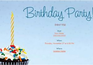 Free E Invitations for Birthdays 25 Email Invitation Templates Psd Vector Eps Ai