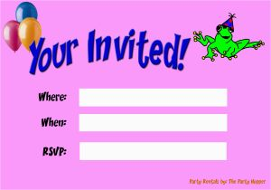 Free E Invitations for Birthdays Electronic Birthday Invitations