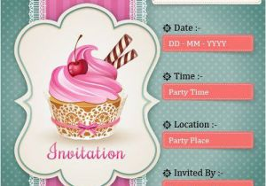 Free E Invitations for Birthdays Electronic Birthday Party Invitations A Birthday Cake