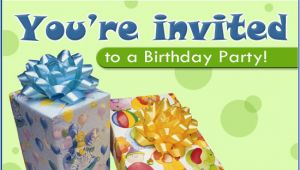 Free Ecard Birthday Invitations Free Birthday Party Ecard Email Free Personalized