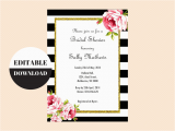 Free Editable Birthday Invitations Black and White Floral Editable Invitation Magical Printable