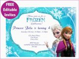 Free Editable Birthday Invitations Frozen Free Editable Birthday Invitation