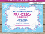Free Editable Birthday Invitations Frozen Invitation Template Diy Editable Frozen Invitations