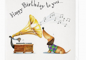 Free Electronic Birthday Cards With Music Happy To You Musical Dachshund Greeting Card