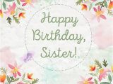 Free Email Birthday Cards for Sister Happy Birthday Sister 40 Cute Wishes for Her