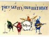 Free Email Birthday Cards Funny with Music Beatles Happy Birthday Postcards Beetles Bday Musical
