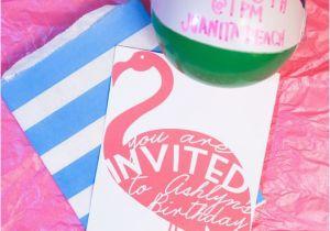 Free Flamingo Birthday Invitations Confetti Sunshine Miss Flamingo Diy Party Invitation