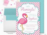 Free Flamingo Birthday Invitations Flamingo Birthday Invitation Flamingo Party Invitation