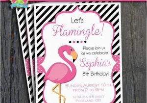 Free Flamingo Birthday Invitations Flamingo Birthday Invitation Flamingo Party Invite by