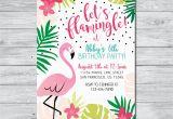Free Flamingo Birthday Invitations Flamingo Birthday Invitation Let 39 S Flamingle Invitation