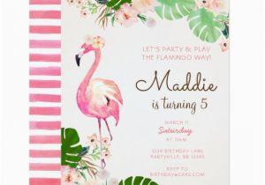 Free Flamingo Birthday Invitations Flamingo Birthday Invitation Zazzle Com