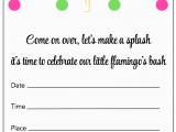 Free Flamingo Birthday Invitations Flamingo Party Free Printable Party Invitations B