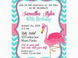 Free Flamingo Birthday Invitations Pink Flamingo Invitation Printable or Printed with Free