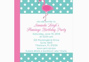 Free Flamingo Birthday Invitations Polka Dot Flamingo Party Invitation Chicfetti