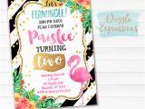 Free Flamingo Birthday Invitations Printable Watercolor Flamingo Birthday Invitation Luau