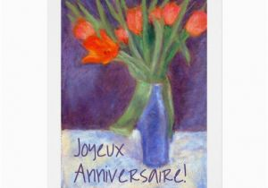 Free French Birthday Cards Red Tulips Card Greeting Zazzle