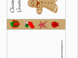 Free Funny Birthday Cards to Print at Home Free Printable Christmas Card with Gingerbread Man
