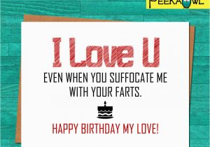 Free Funny Printable Birthday Cards For Wife Instant Download Card Boyfriend Husband