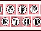 Free Happy Birthday Banner Printable Black and White Happy Birthday Banner Printable Black and White theveliger