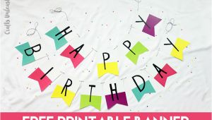 Free Happy Birthday Banner Printable Pdf Free Printable Banner Happy Birthday Pennants Consumer