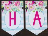 Free Happy Birthday Banner Printable Pdf Free Printable Birthday Banner Six Clever Sisters
