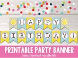 Free Happy Birthday Banner Printable Pdf Sunshine Happy Birthday Banner Instant Download Printable