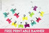 Free Happy Birthday Banner to Print Free Printable Banner Happy Birthday Pennants Consumer