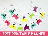 Free Happy Birthday Banner to Print Free Printable Banner Happy Birthday Pennants Consumer