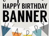 Free Happy Birthday Banner to Print Free Printable Happy Birthday Banner Paper Trail Design