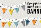 Free Happy Birthday Banner to Print Free Printable Happy Birthday Banner Paper Trail Design